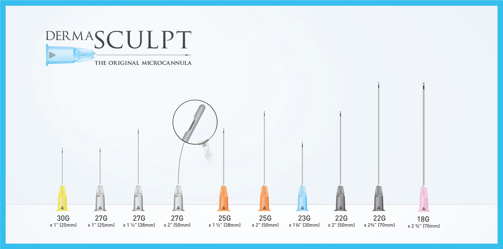 DermaSculpt Microcannula Blunt-tip Cannula for Fillers
